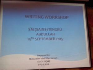 English Workshop 2 2015